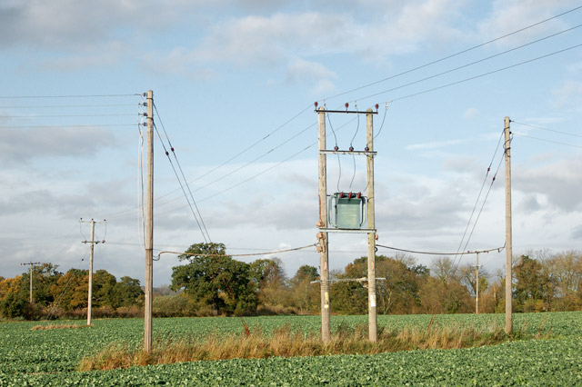 Wood Power Poles Sizes : File transformer and power poles near manor farm