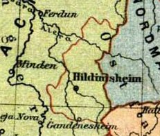 The Diocese of Hildesheim at the time of its foundation