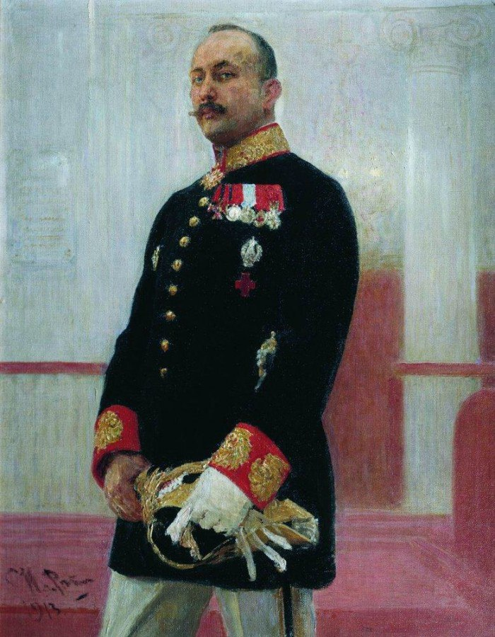 портрет работы Ильи Репина, 1913 г.