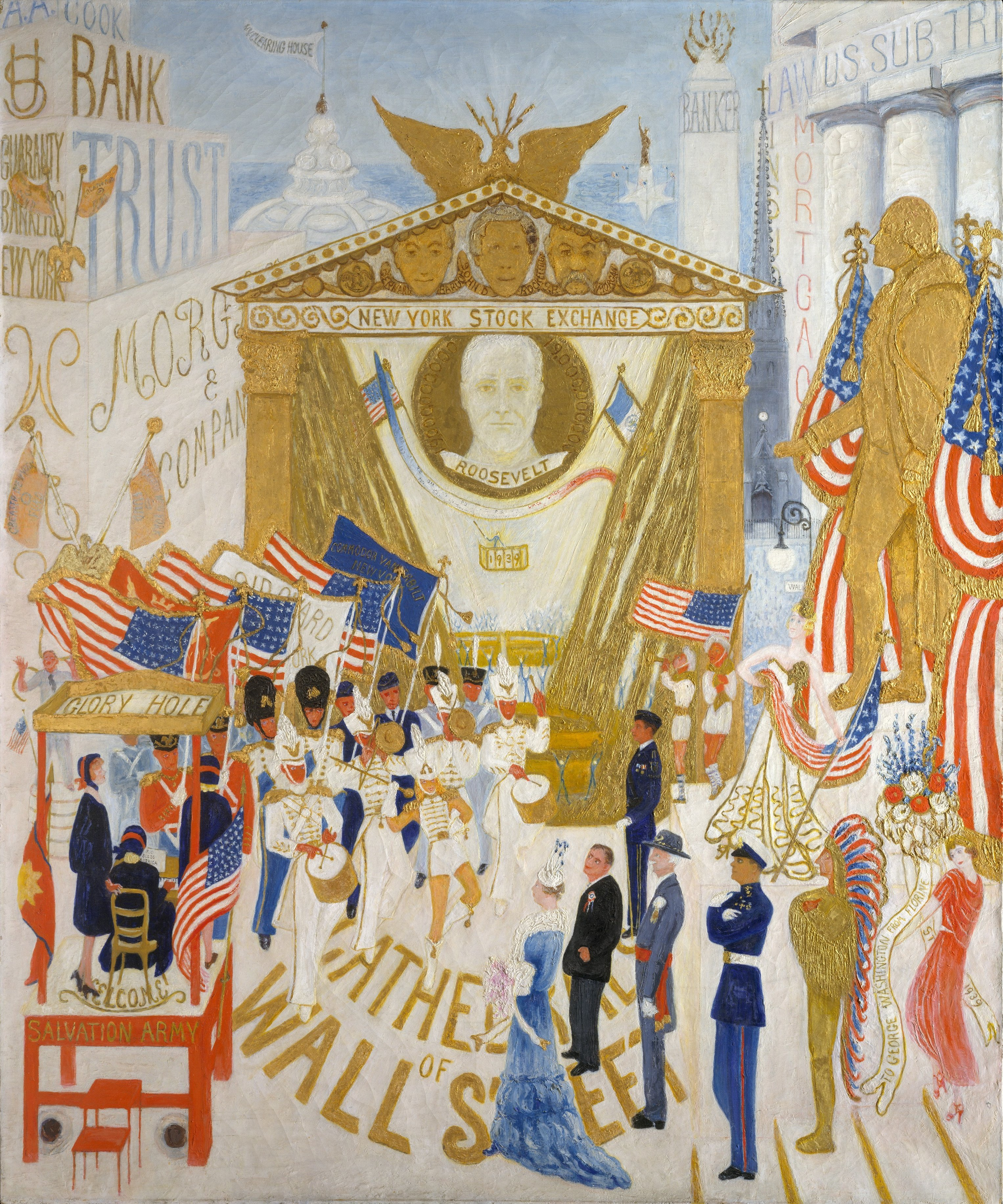 The Cathedrals of Wall Street, Florine Stettheimer, 1939