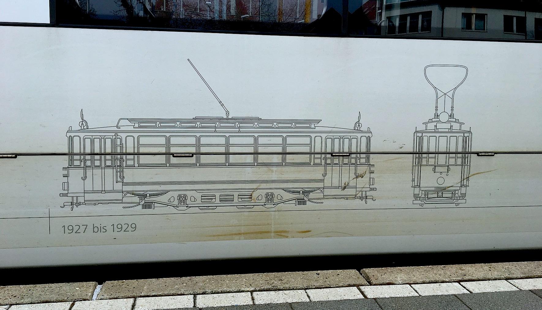 17 марта 2017. Внешнее оформление одного из дюссельдорфских трамваев.