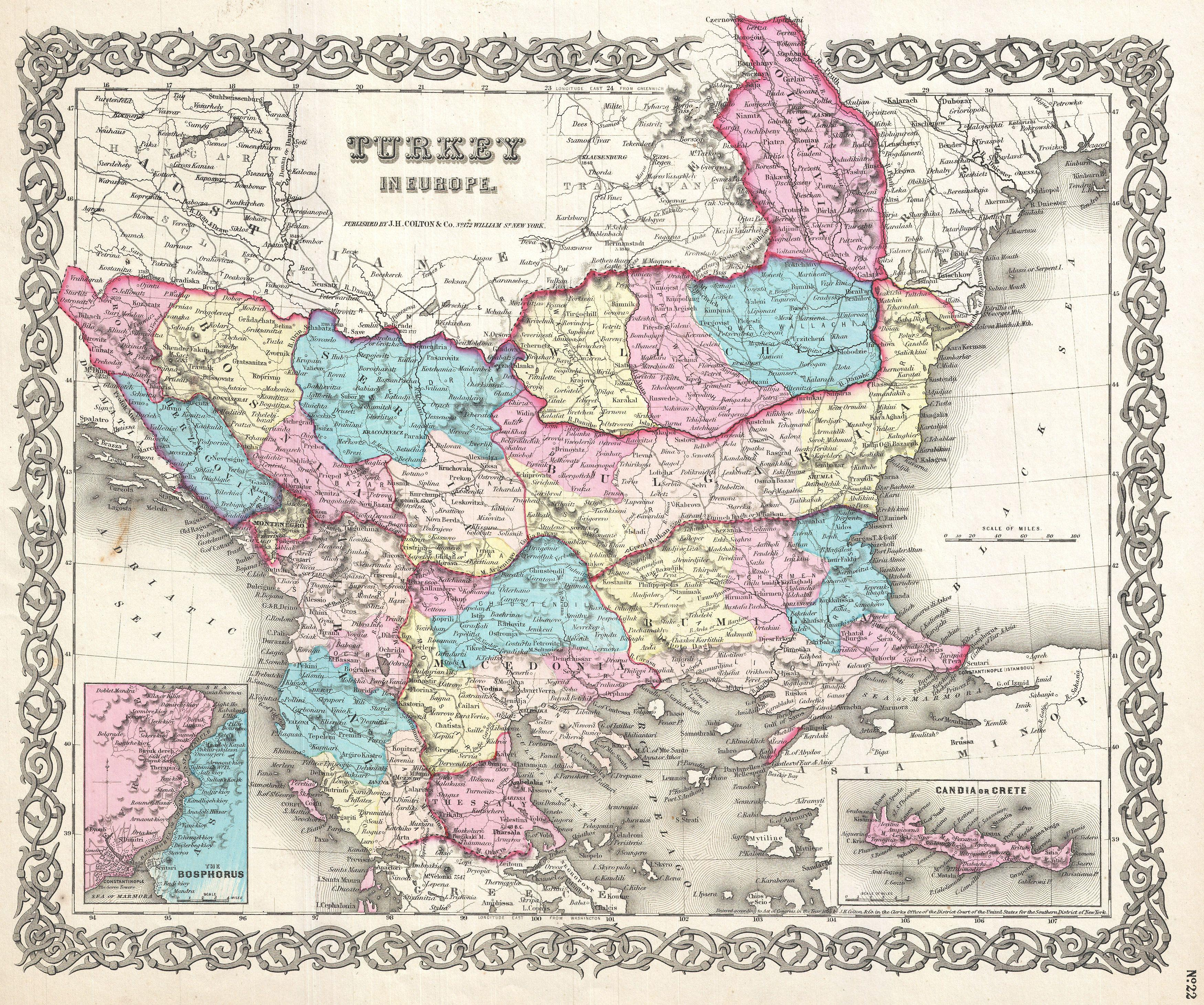 File:1855 Colton Map of Turkey in Europe, Macedonia, and the Balkans ...
