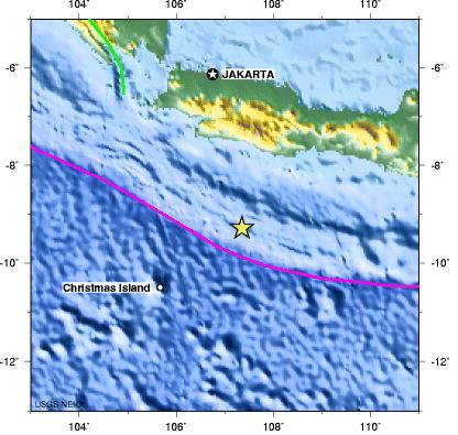 Figure 8.1 The Location of epicenter of the 2006 Indonesia Earthquake. By. W