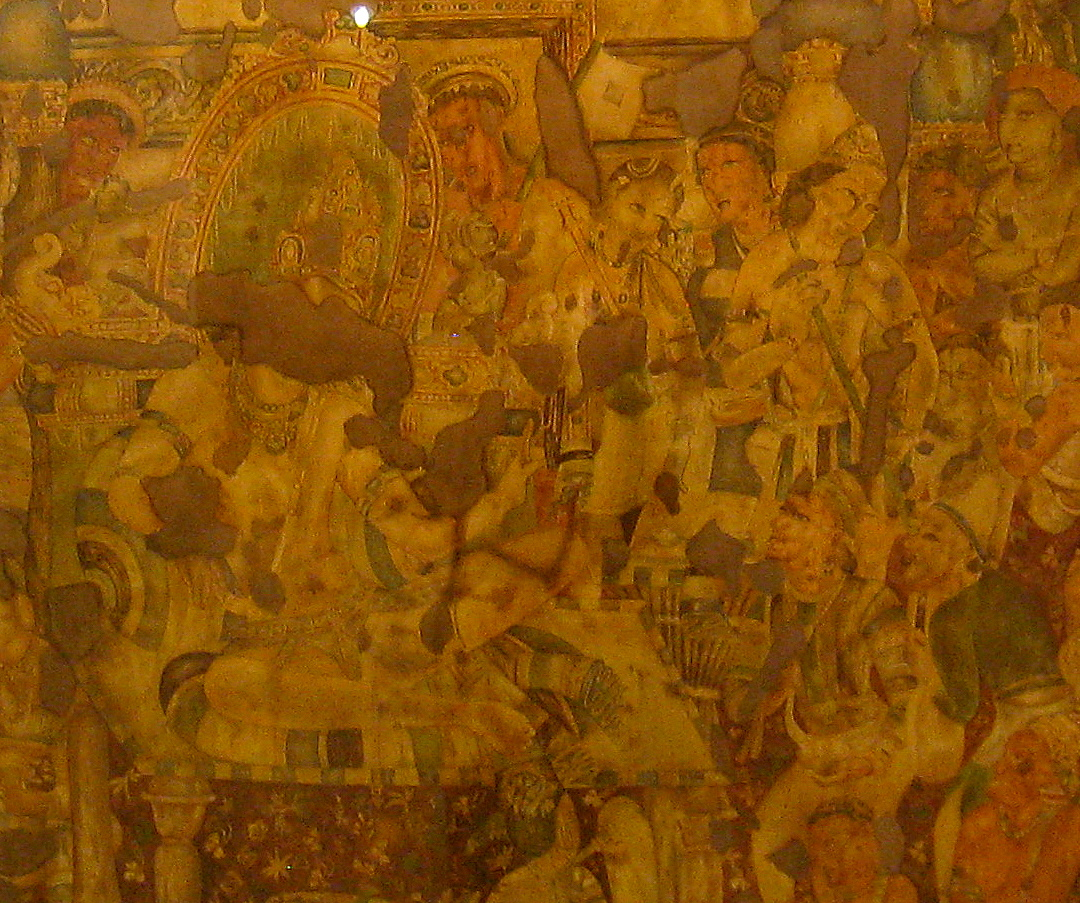 D 39 source paintings history of graphic arts in india d for Ajanta mural painting