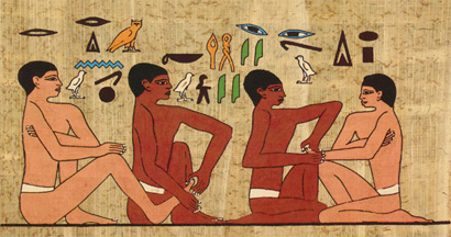Wall painting found in the tomb of an Egyptian official known as the physicians tomb Akmanthor.jpg