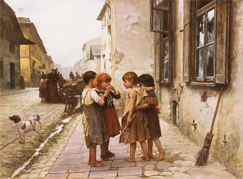 Antoni Kozakiewicz - Na ulicy 1891