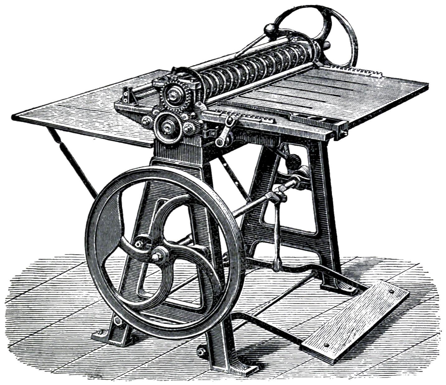 scarriedheimcardcuttingandscoringmachinefrom1889,capableofproducingupto100,000visitingandbusinesscardsaday