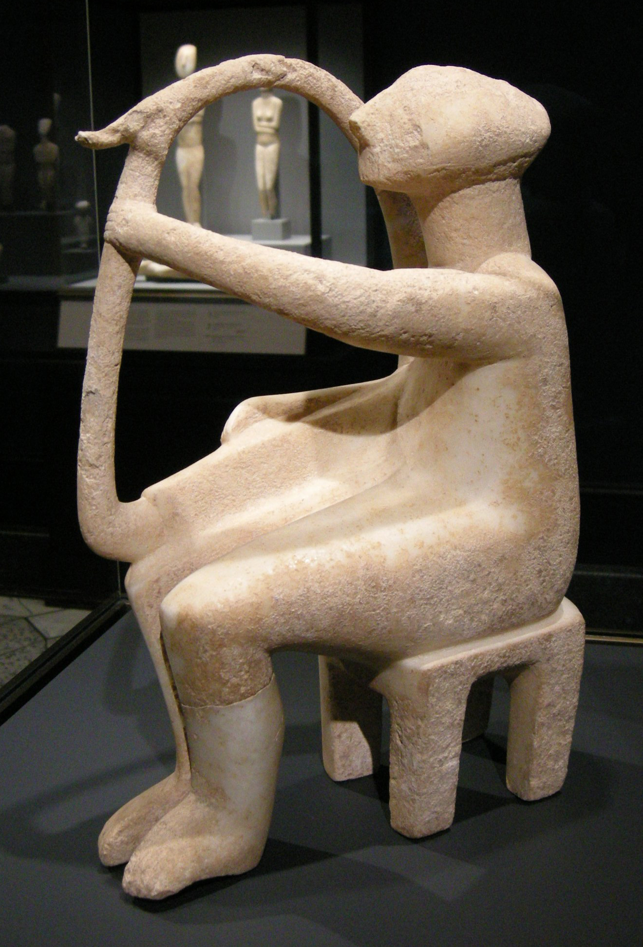 cycladic art the getty harp player