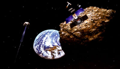 Gruvbrytning på asteroid