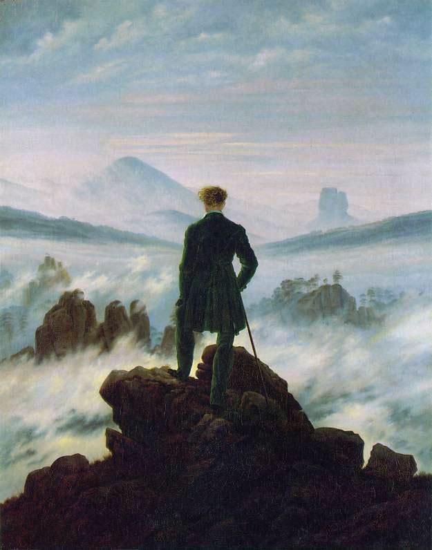 viaggiatore sopra il mare di nebbia