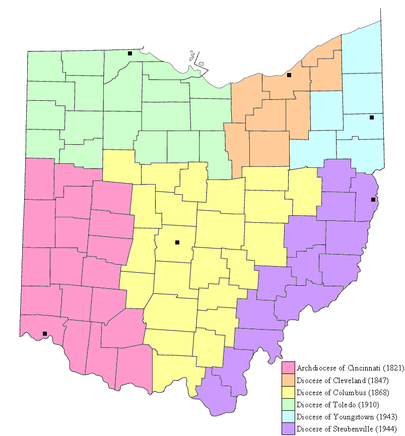 FileCincinnati Catholic Mappng Wikimedia Commons - Us catholic diocese map