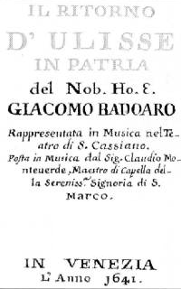 Claudio Monteverdi - Il ritorno d'Ulisse in patria - title page of the libretto - Venice 1641.png
