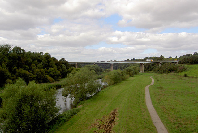 Doncaster bypass crossing the River Don. - geograph.org.uk - 536070