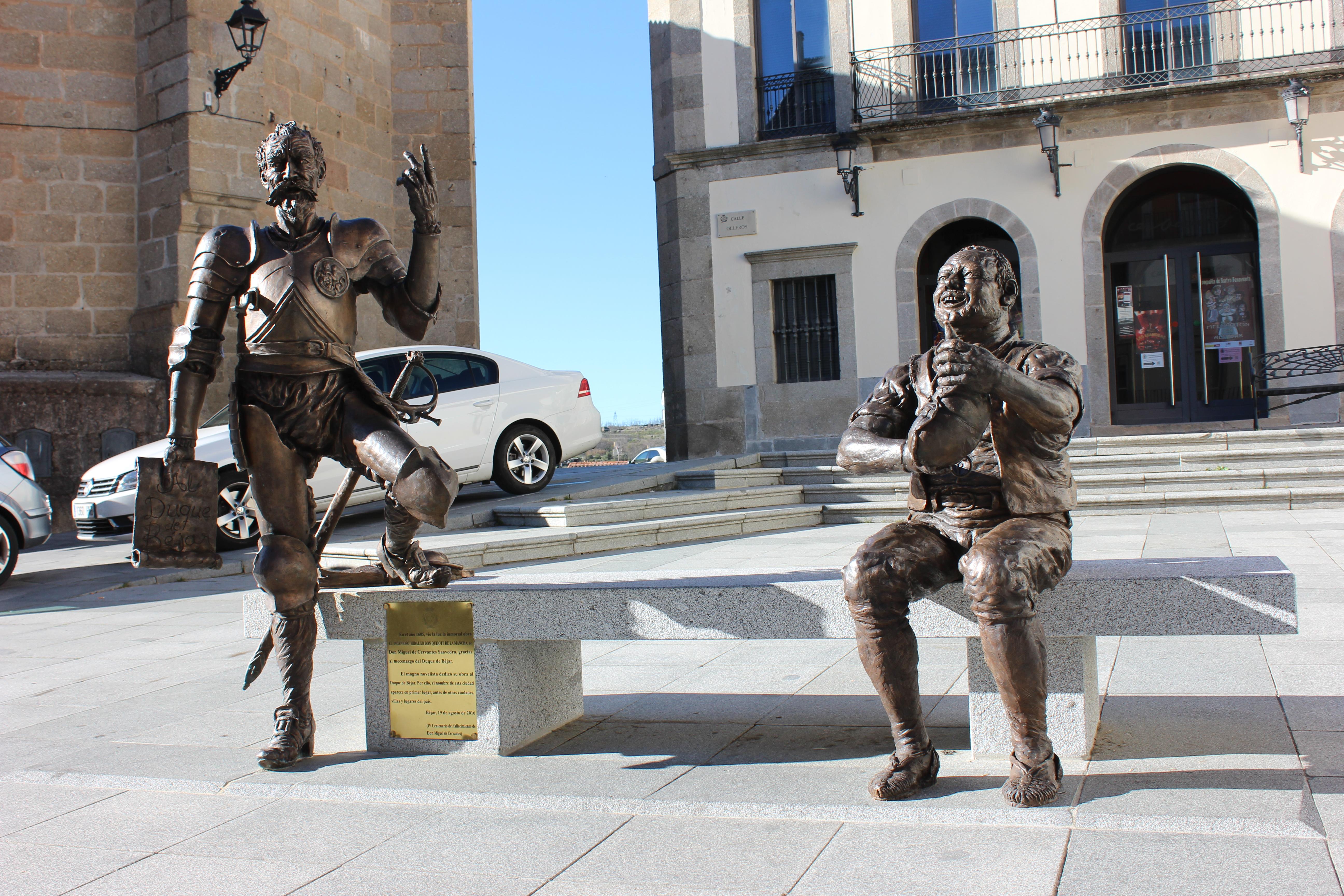 File Estatuas De Don Quijote Y Sancho Panza Bejar01 Jpg Wikimedia