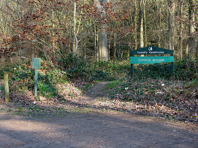 Entrance to Dymock Woods - geograph.org.uk - 668070