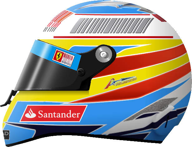 File Fernando Alonso 2010 F1 Helmet Drawing Png