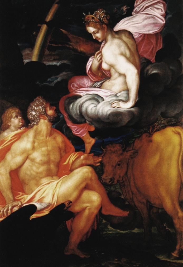 Io with Zeus, by Giovanni Ambrogio Figino