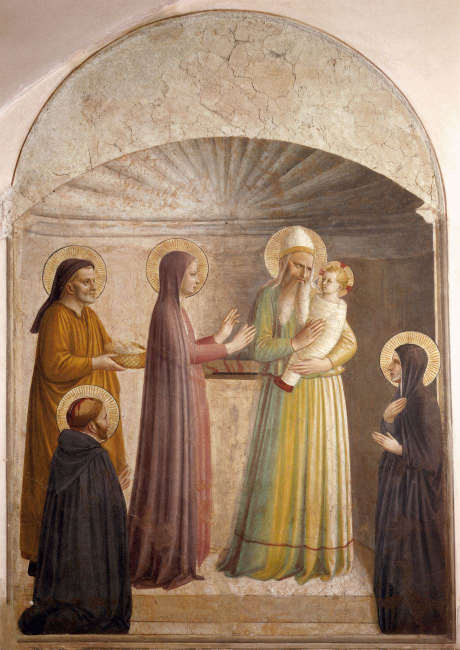 Fra Angelico - Présentation de Jésus au Temple dans images sacrée Fra_Angelico_-_Presentation_of_Jesus_in_the_Temple_(Cell_10)_-_WGA00544