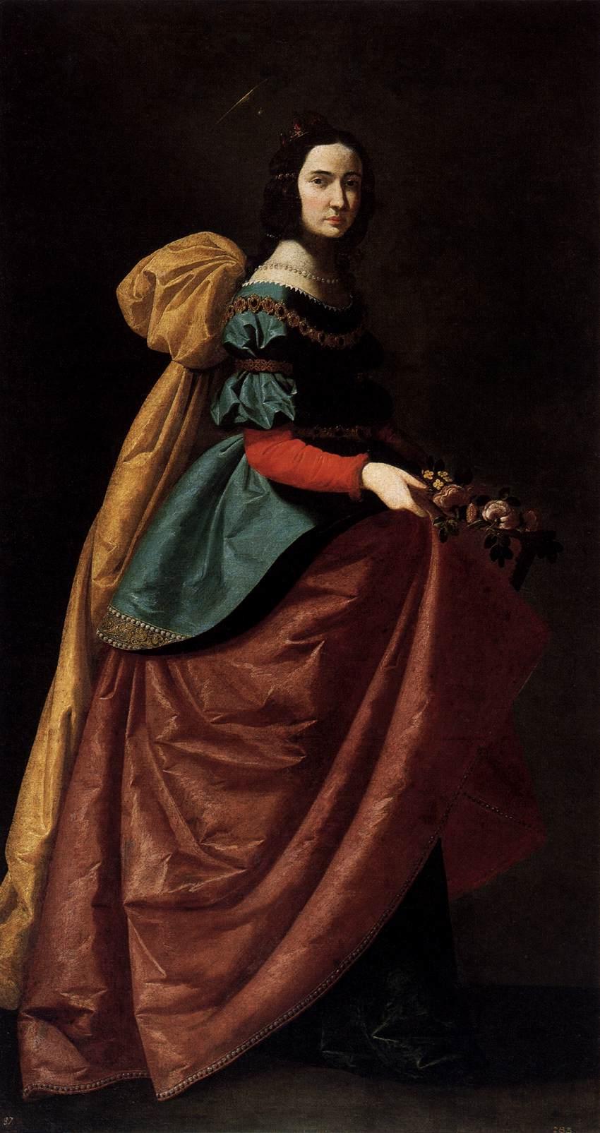 Francisco de Zurbarán: St. Elisabeth av Portugal (1640), Museo Nacional del Prado, Madrid