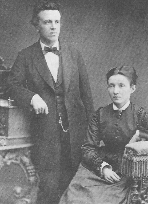 Franz Overbeck with his wife Ida, ca. 1875