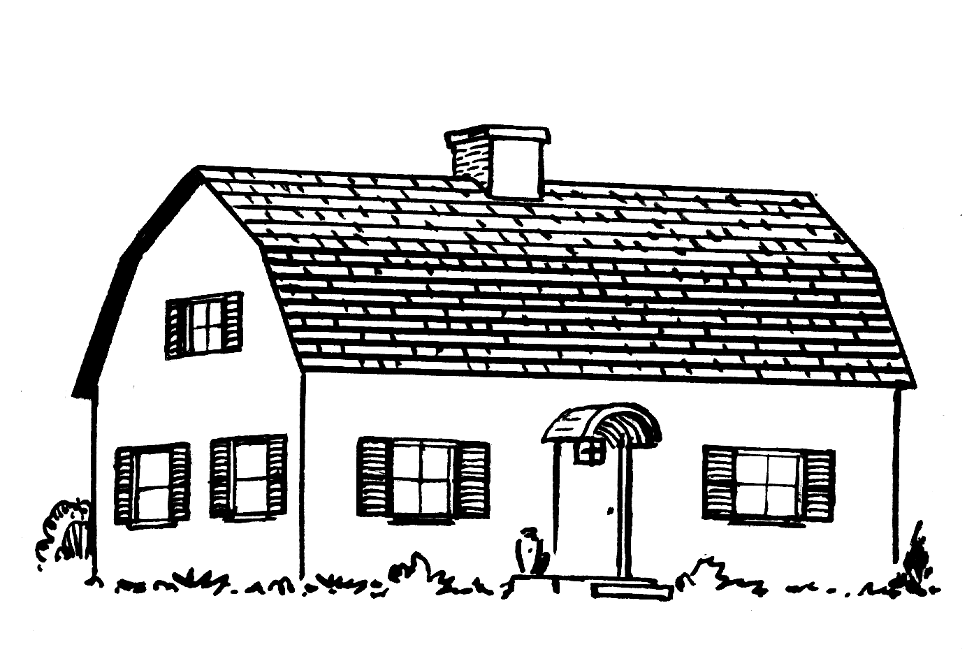 File gambrel roof psf png wikimedia commons for Gambrel roof dimensions