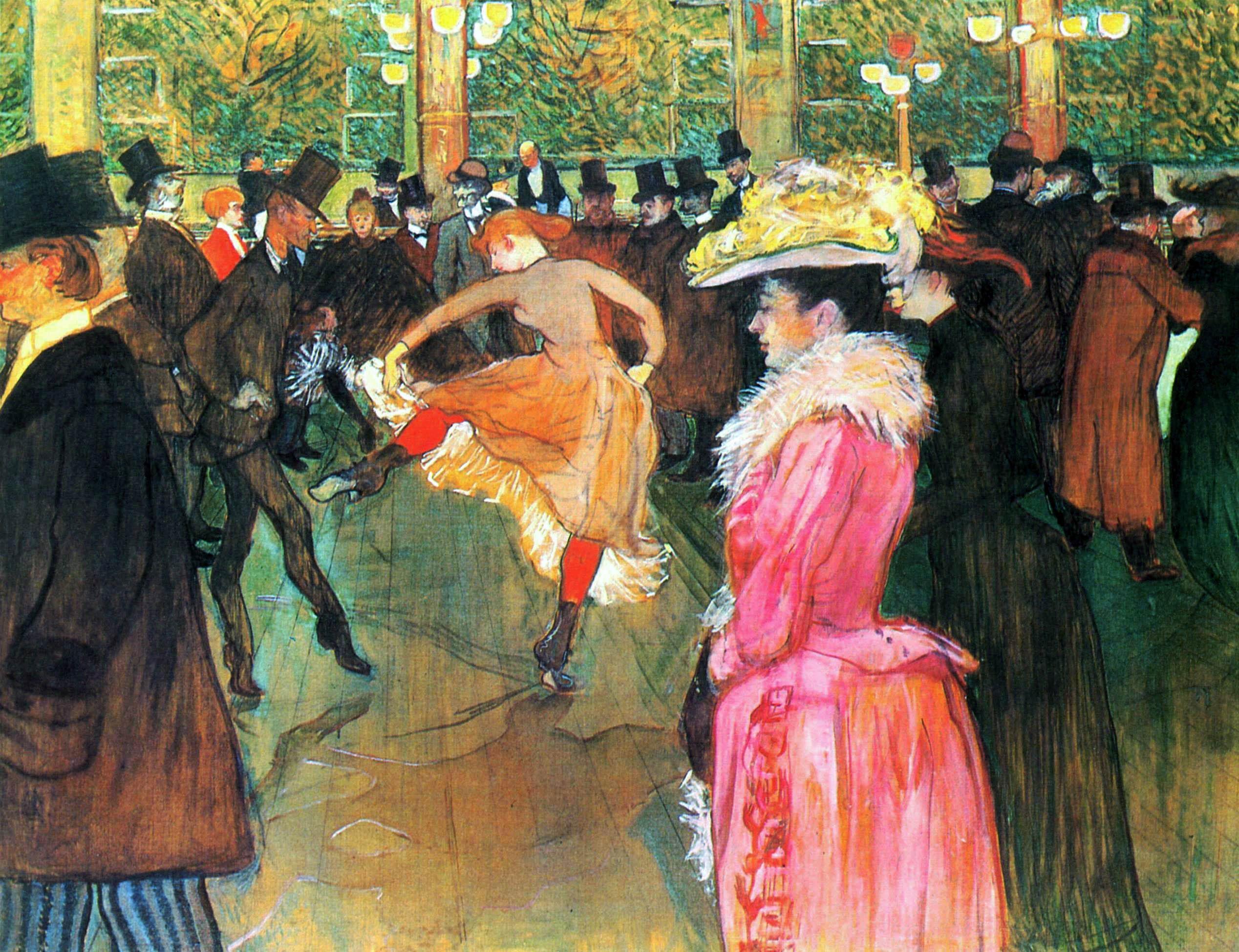 La dance au Moulin Rouge (1890) - Henri de Toulouse-Lautrec