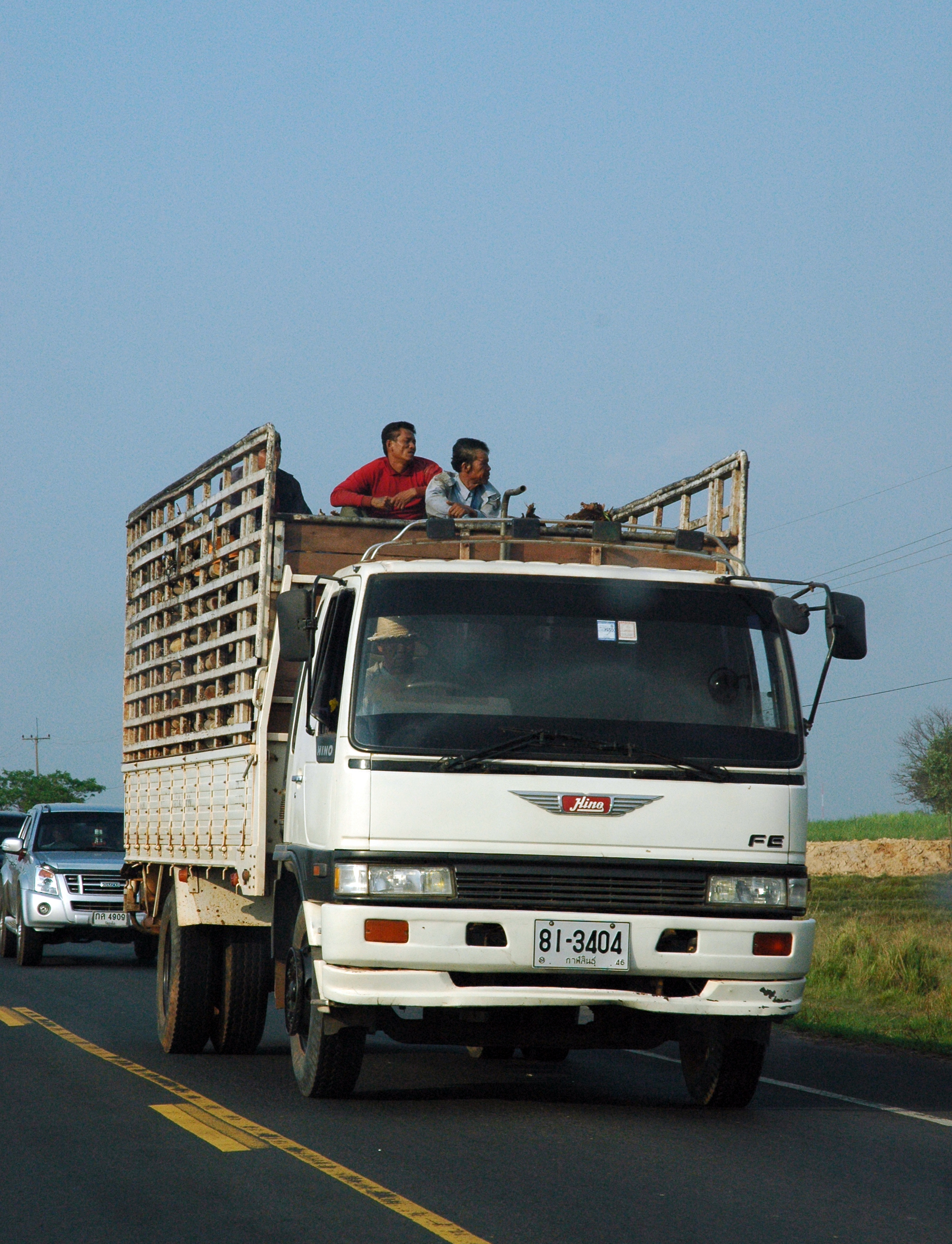 Kalasin Thailand  City new picture : Hino Truck on Highway Kalasin, Thailand Wikimedia Commons