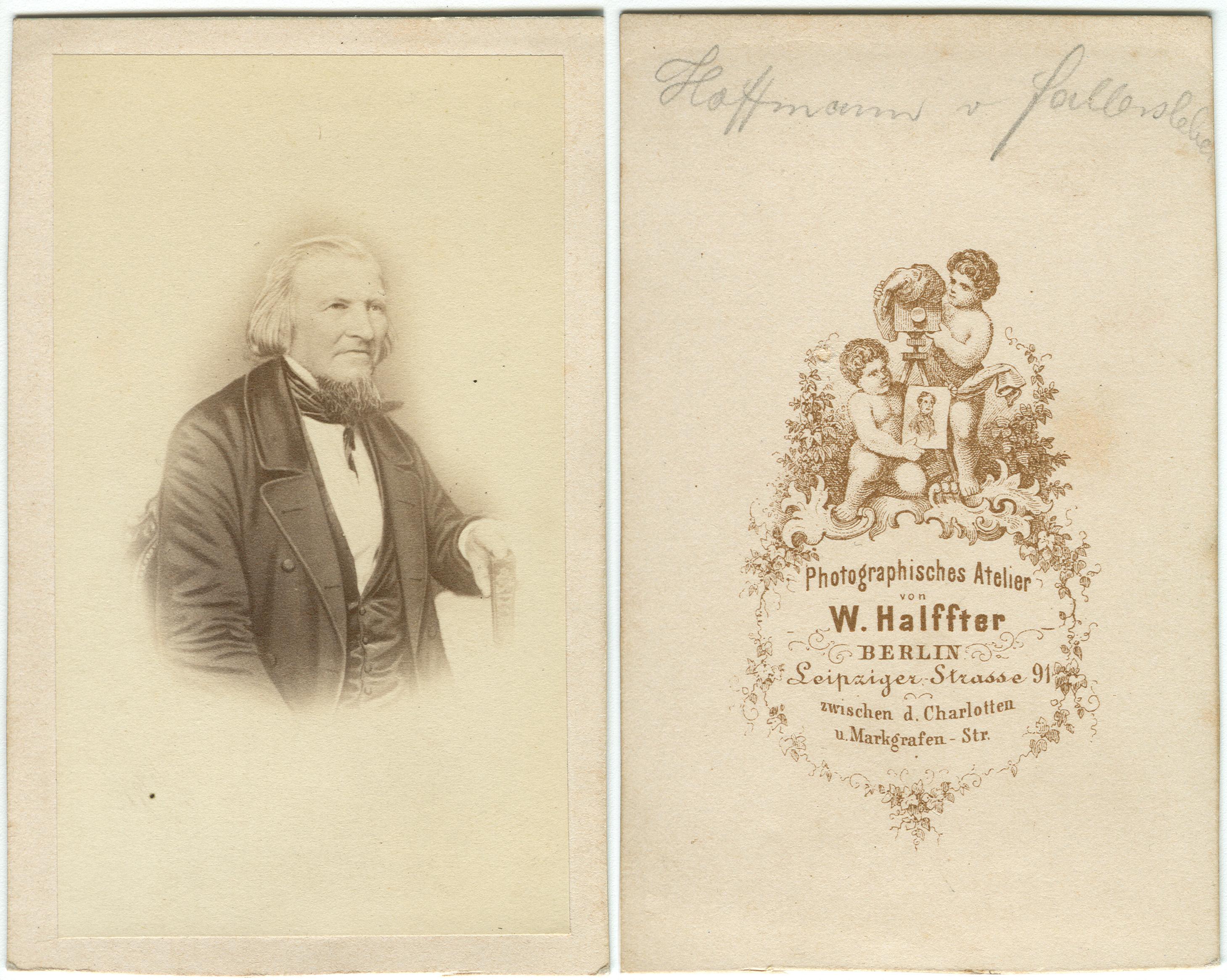 FileHoffmann Von Fallersleben Carte De Visite W Halffter Berlin Bild Und Ruckseite