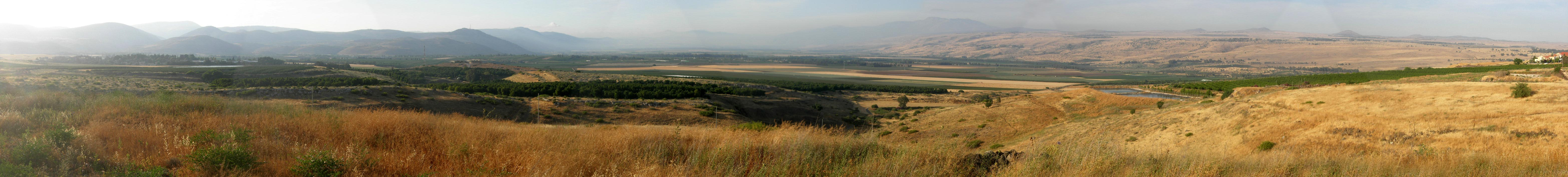 English: Hula Valley, north Israel, viewed fro...