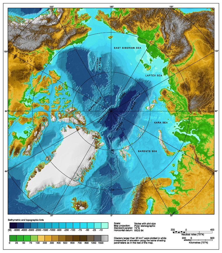 Geography of the ocean and the structure of planet ocean marinebio the topography of the arctic ocean bottom gumiabroncs Images