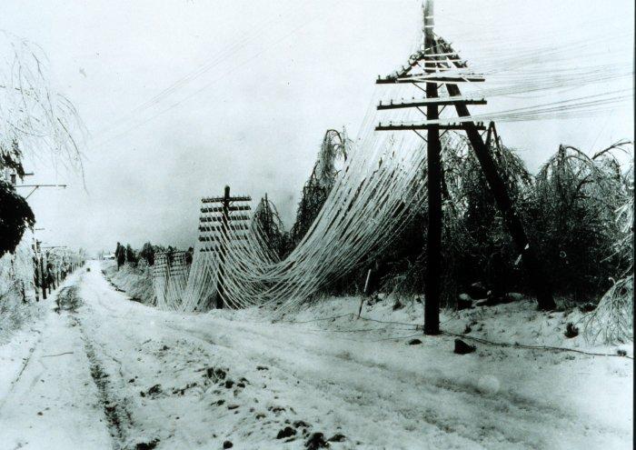Tormenta de hielo producida por un Blizzard. Fuente: NOAA