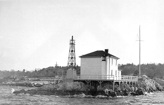 Lighthouses Rhode Island Map