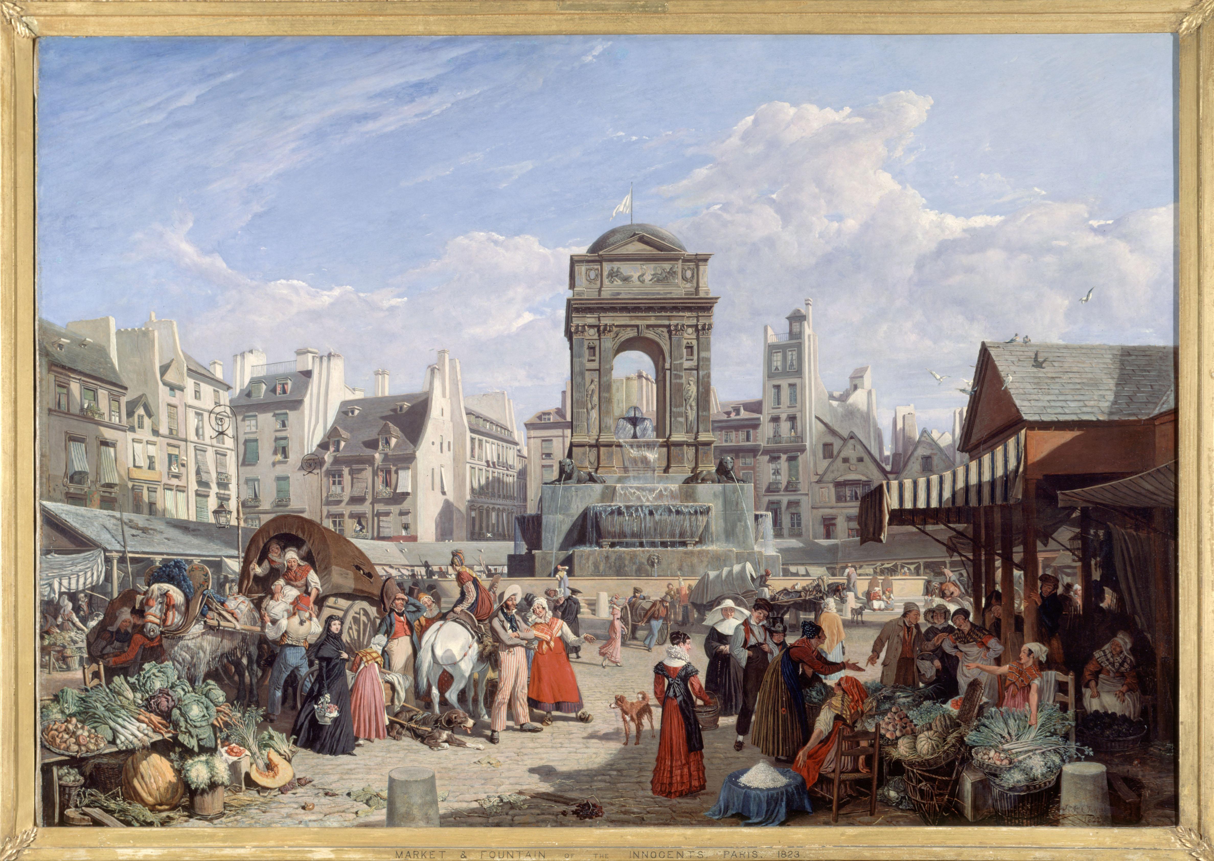 Mercato e Fontana degli Innocenti nel 1822