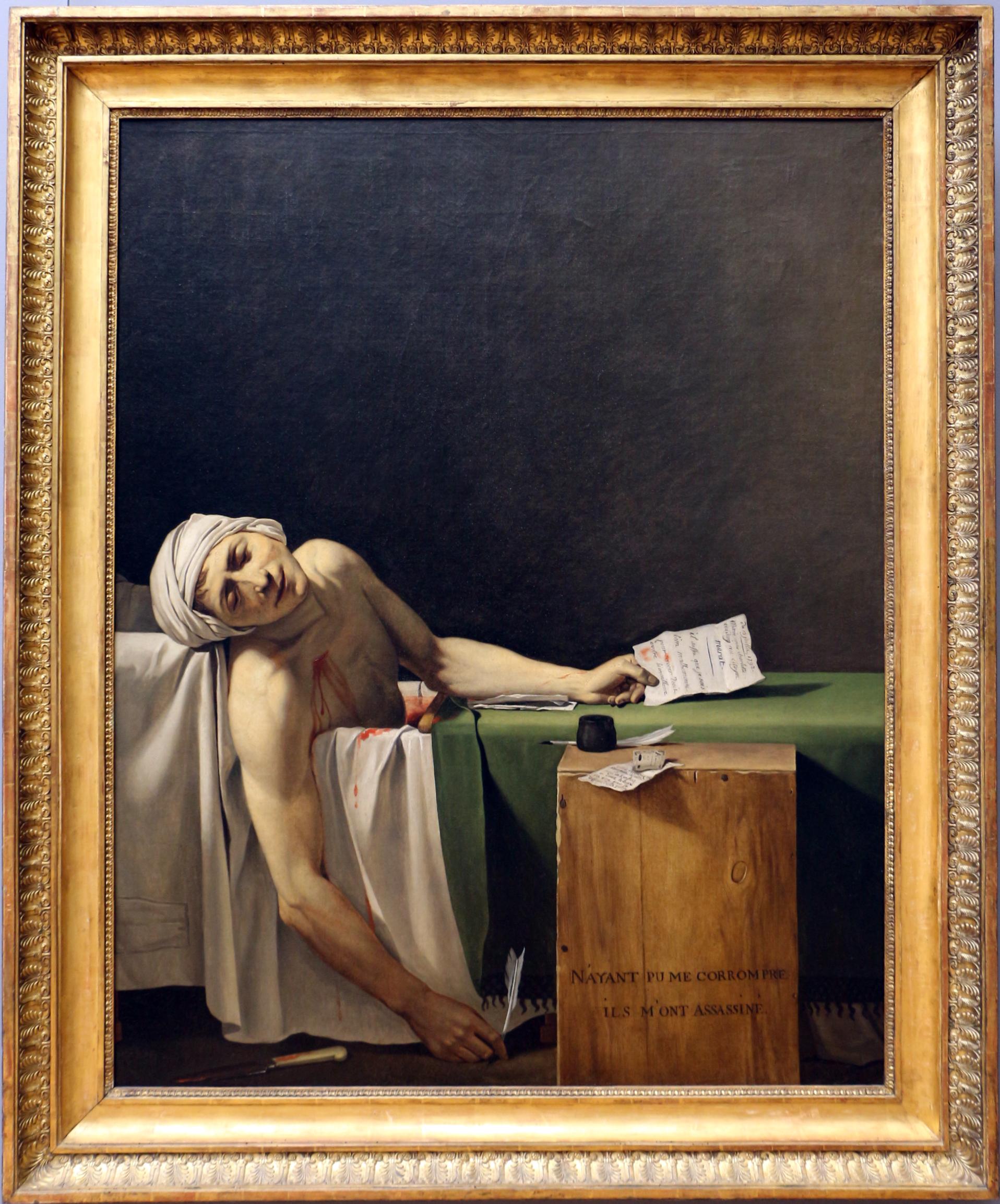 File Jacques Louis David Marat Assassinato 1794 01 Jpg