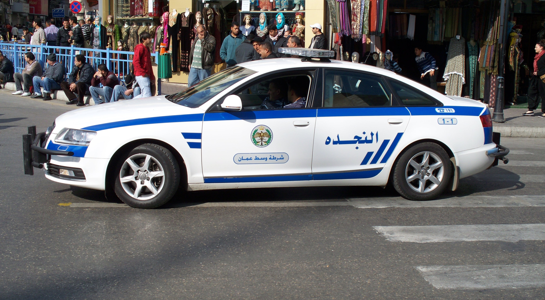 File Jordanian Police Automobile Audi Jpg