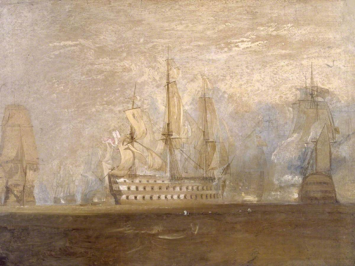 Joseph Mallord William Turner (1775-1851) - First Sketch for 'The Battle of Trafalgar' - N05480 - National Gallery.jpg