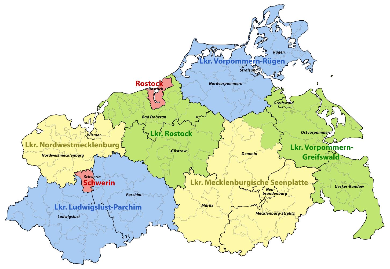 Mecklenburgische Seenplatte Karte Pdf.Kreisgebietsreform Mecklenburg Vorpommern 2011 Wikipedia