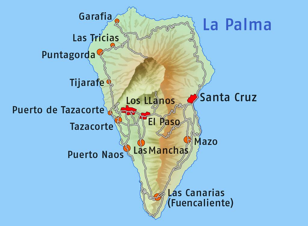 Mallorca Canary Islands Map