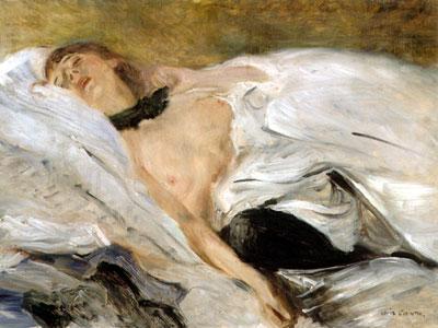 Lovis Corinth Schlafendes Mädchen 1899