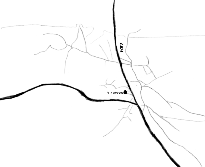 file map of hayfield  derbyshire  showing bus station png