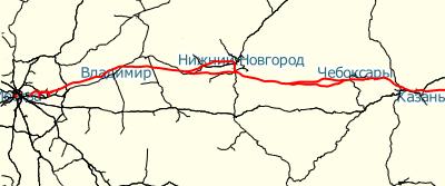 Скоростная железная дорога москва казань схема 522