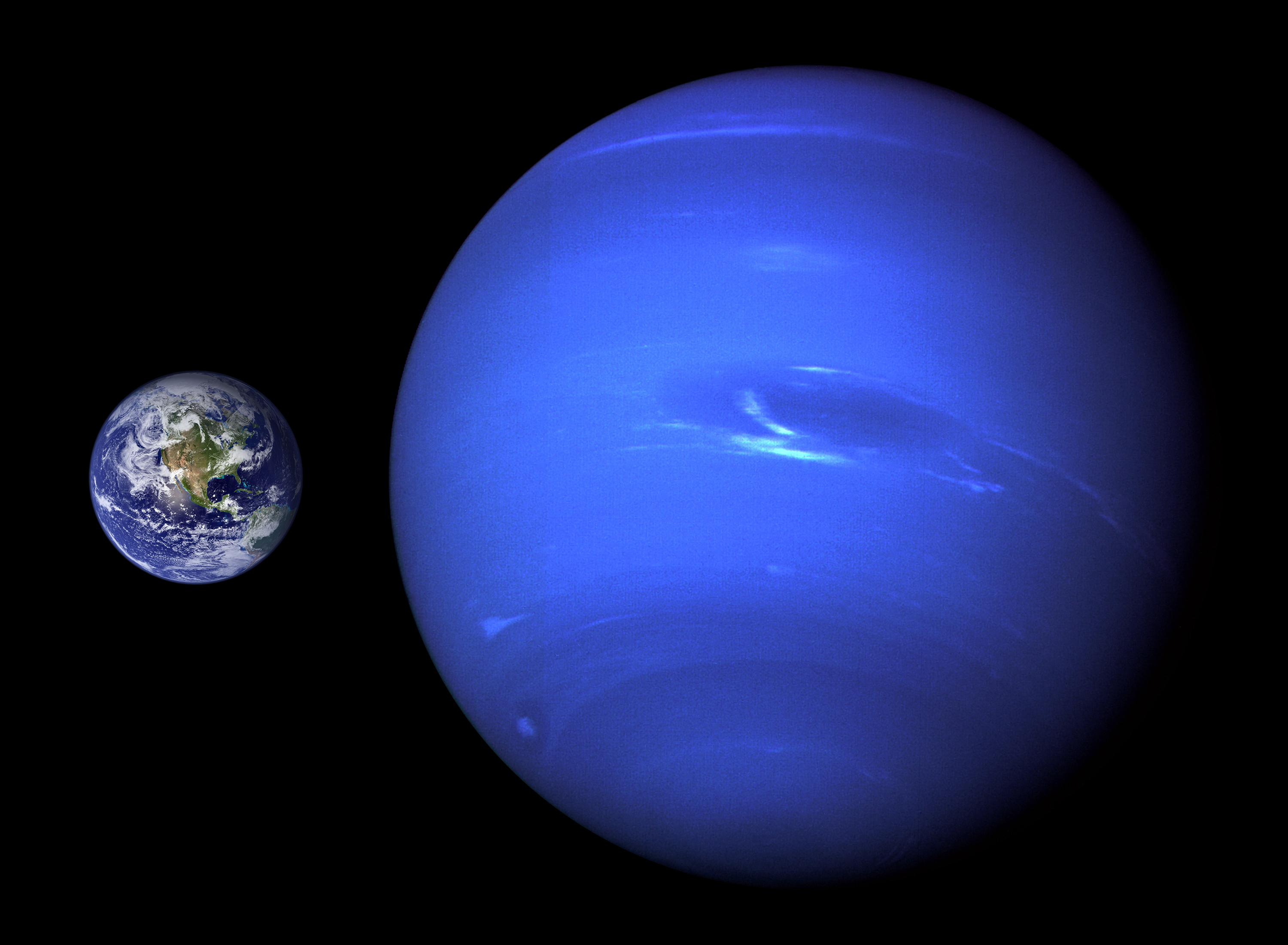 Description neptune earth size comparison