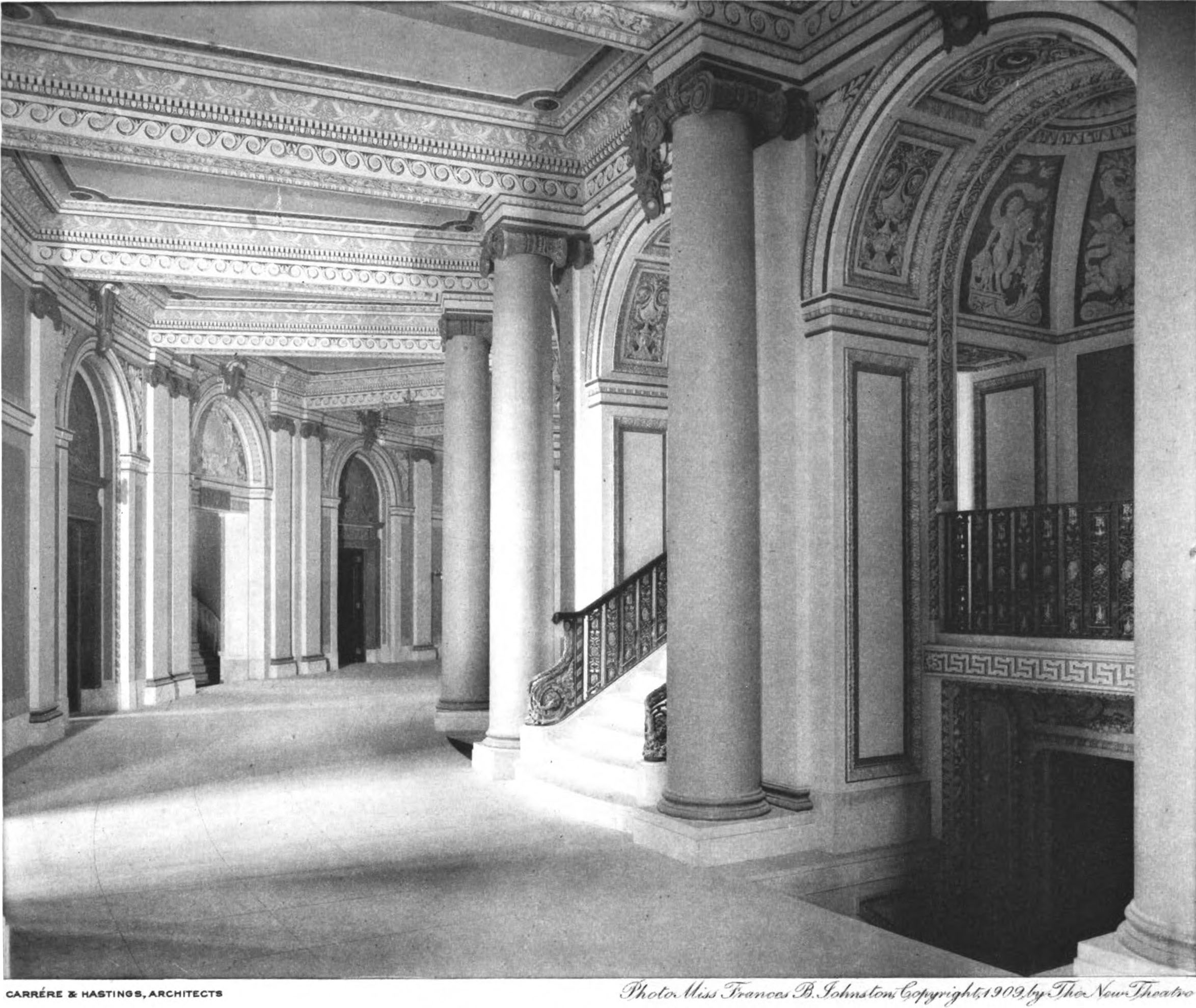 New_Theatre_-_main_foyer_circulation_-_The_Architect_1909 Rose House Founders Floor Plan on rose photography, rose floor pattern, rose garden plan, rose design, rose color, rose map, rose information, rose site plan,
