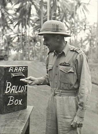 Milne Bay, Papua. c. 1943-08. Air Commodore J....
