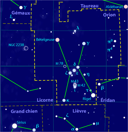 Orion constellation map-fr
