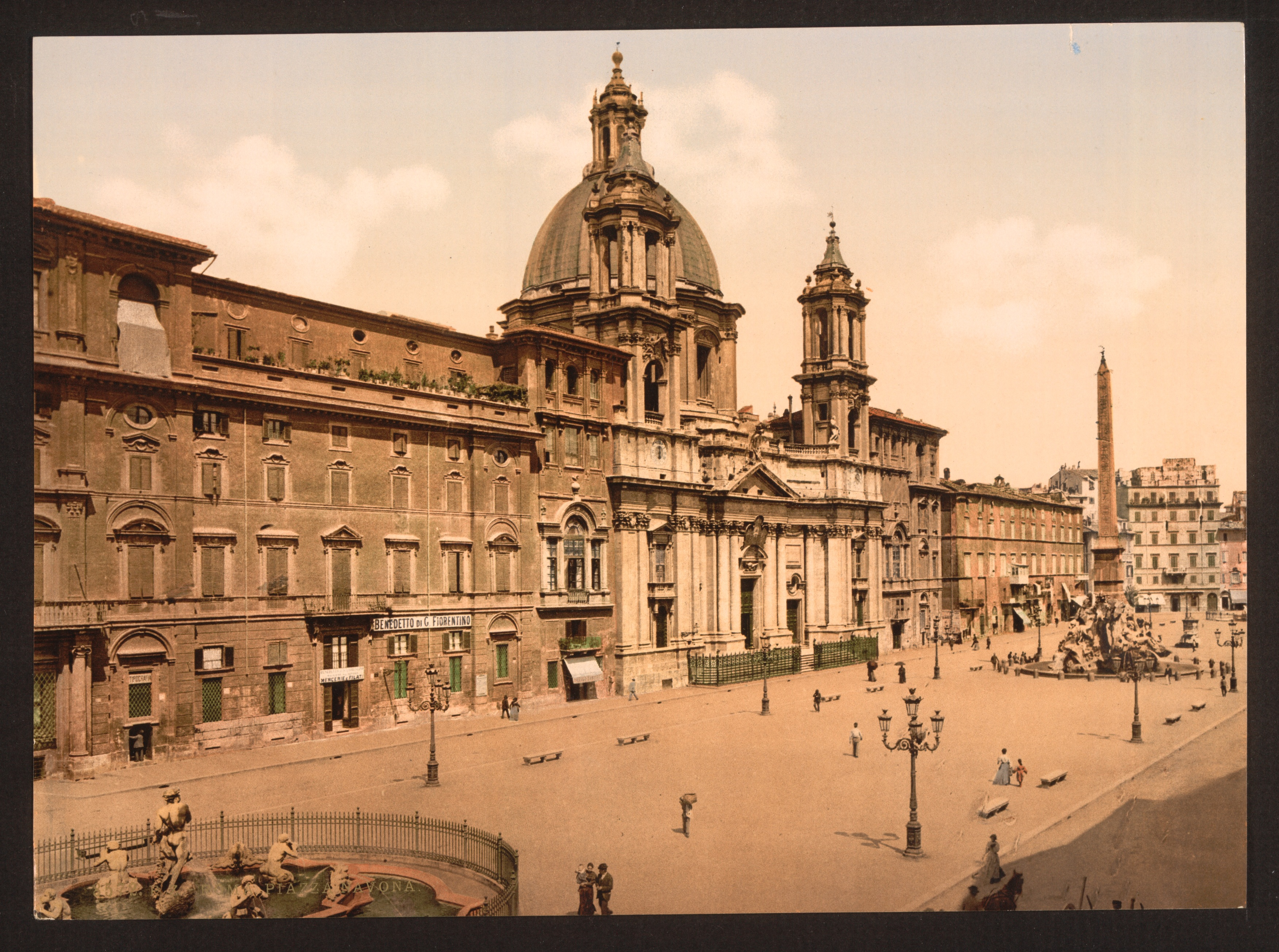 Piazza Navona in the 19th Century