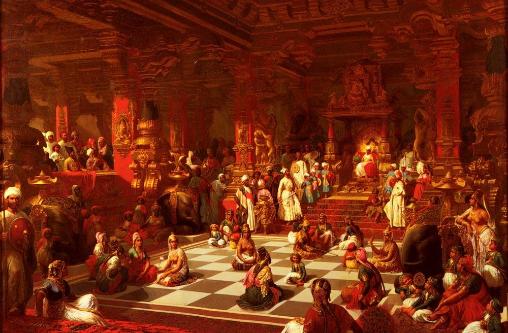 Picou, Henri Pierre   Jeu dEchecs Indien   1876 Живые шахматы