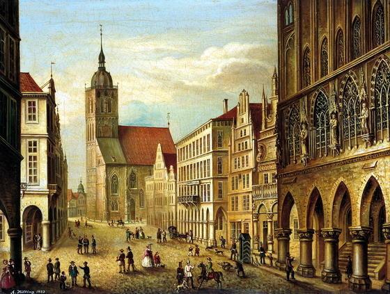 Prinzipalmarkt 1863 August Hilbig