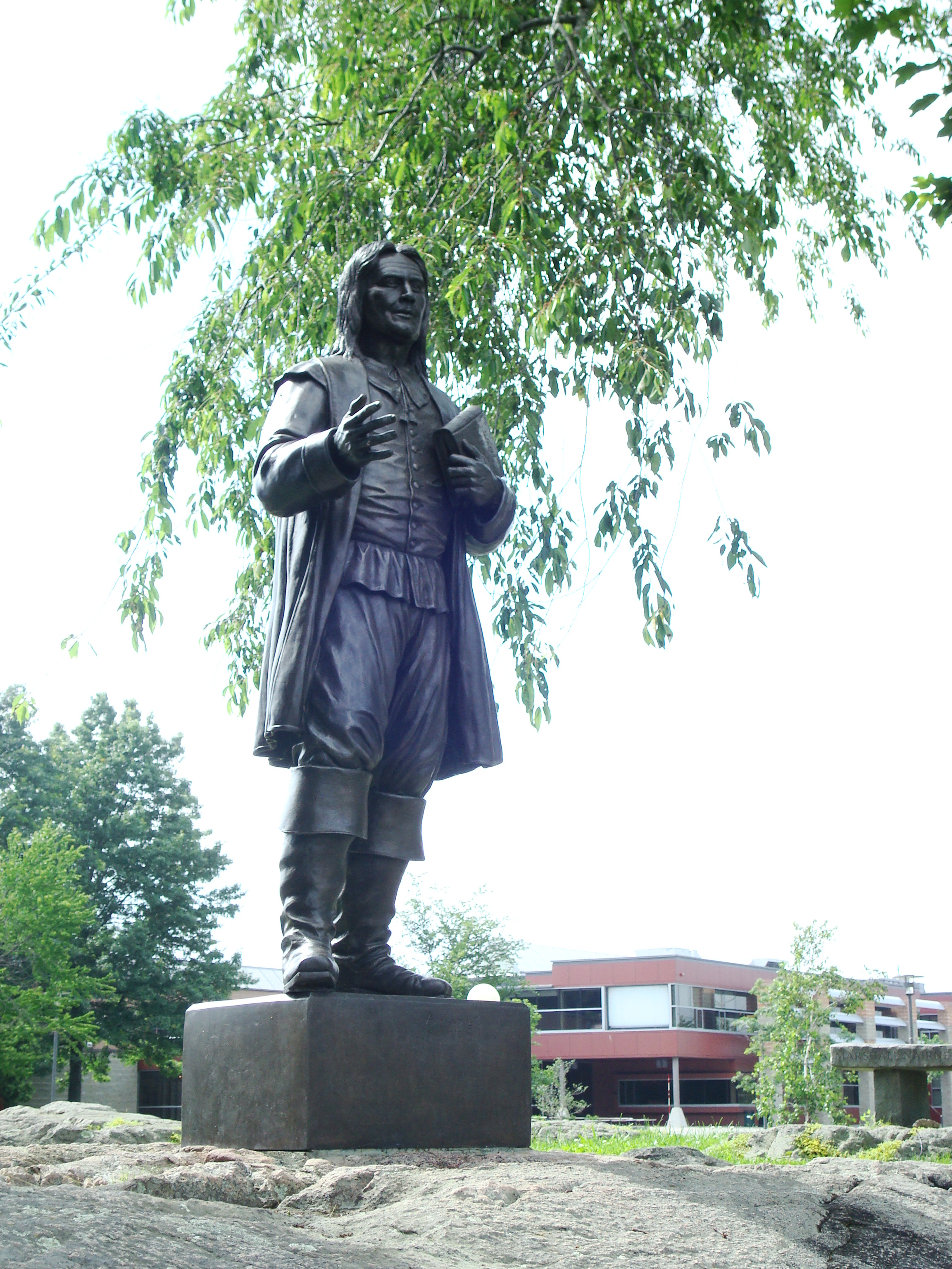 Roger Williams, founder of the Colony of Rhode Island and Providence Plantations, at Roger Williams University