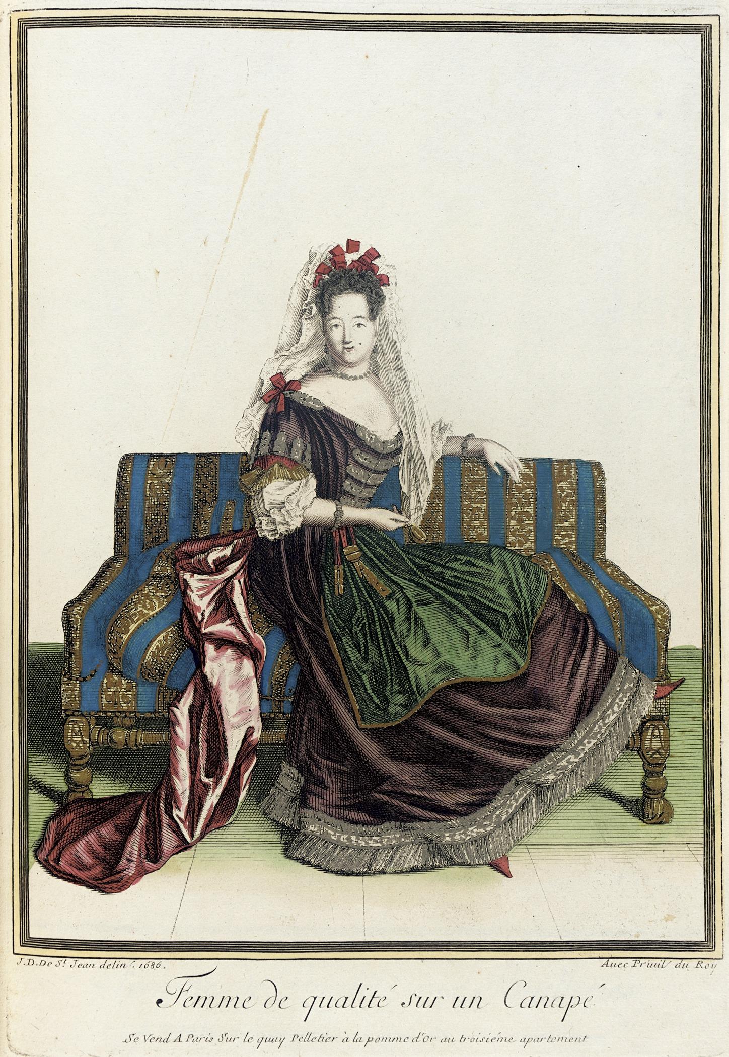 File recueil des modes de la cour de france 39 femme de for History of canape